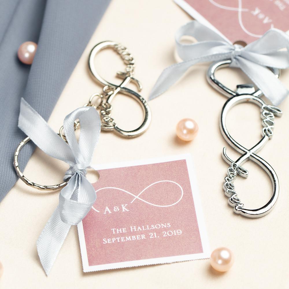 Infinity Silver Metal Key Chain 11666