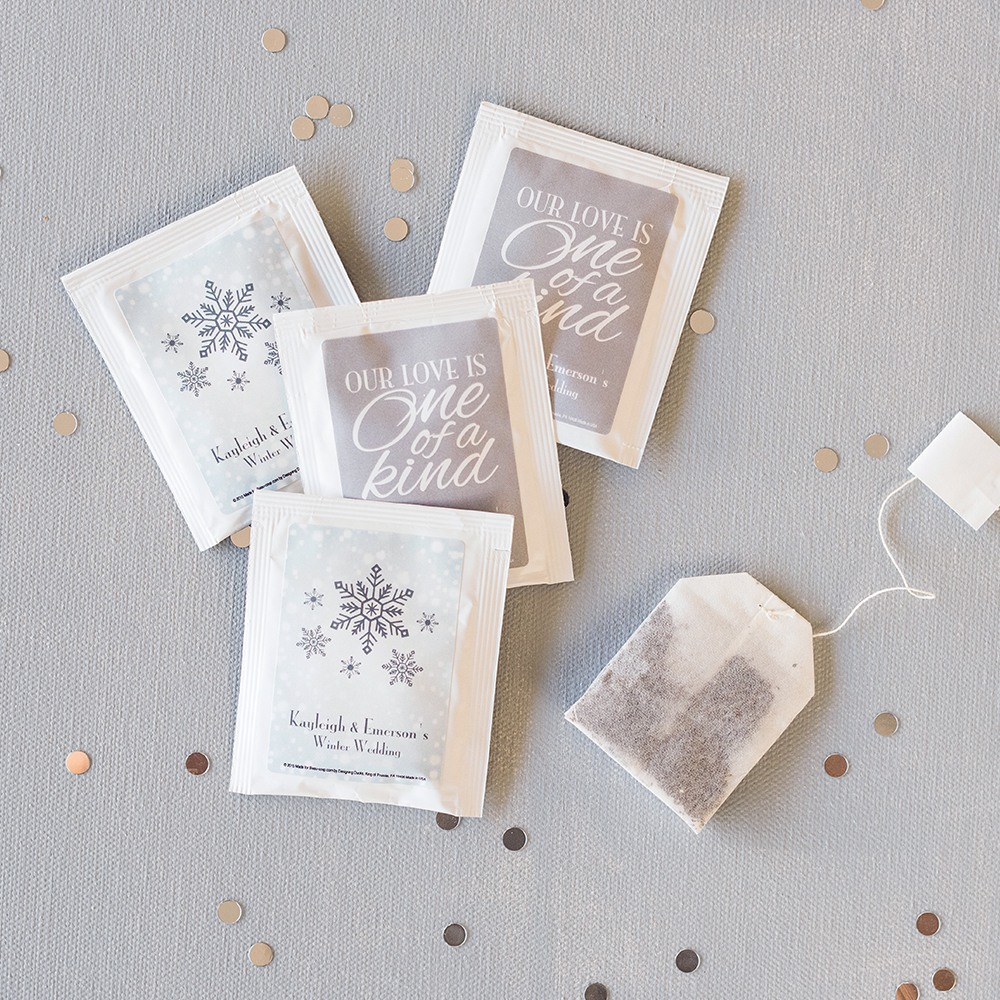 Personalized Winter Themed Tea Bags