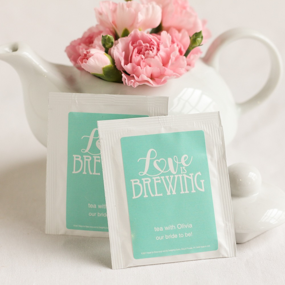 Personalized Wedding Tea Bag Favors 1170