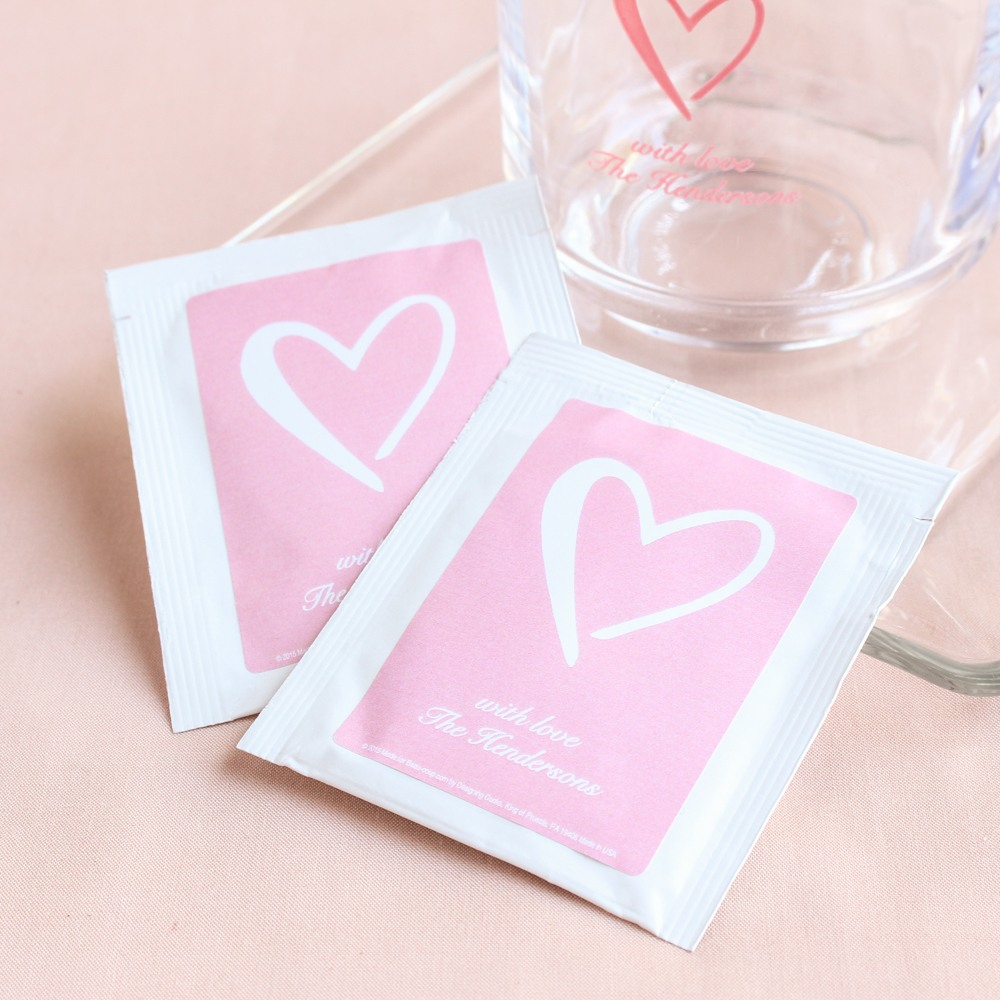 Personalized Heart Tea Bag Favors