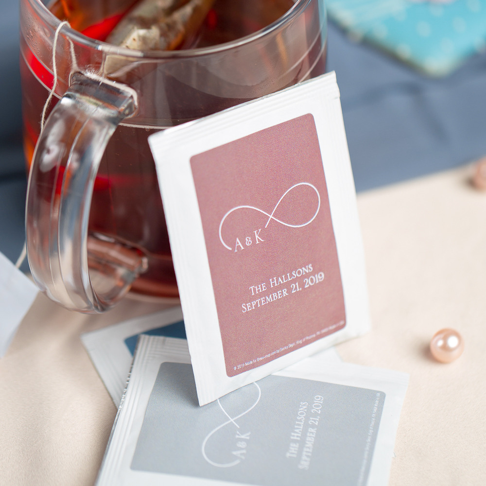 Personalized Eternal Love Wedding Tea Bag Favors