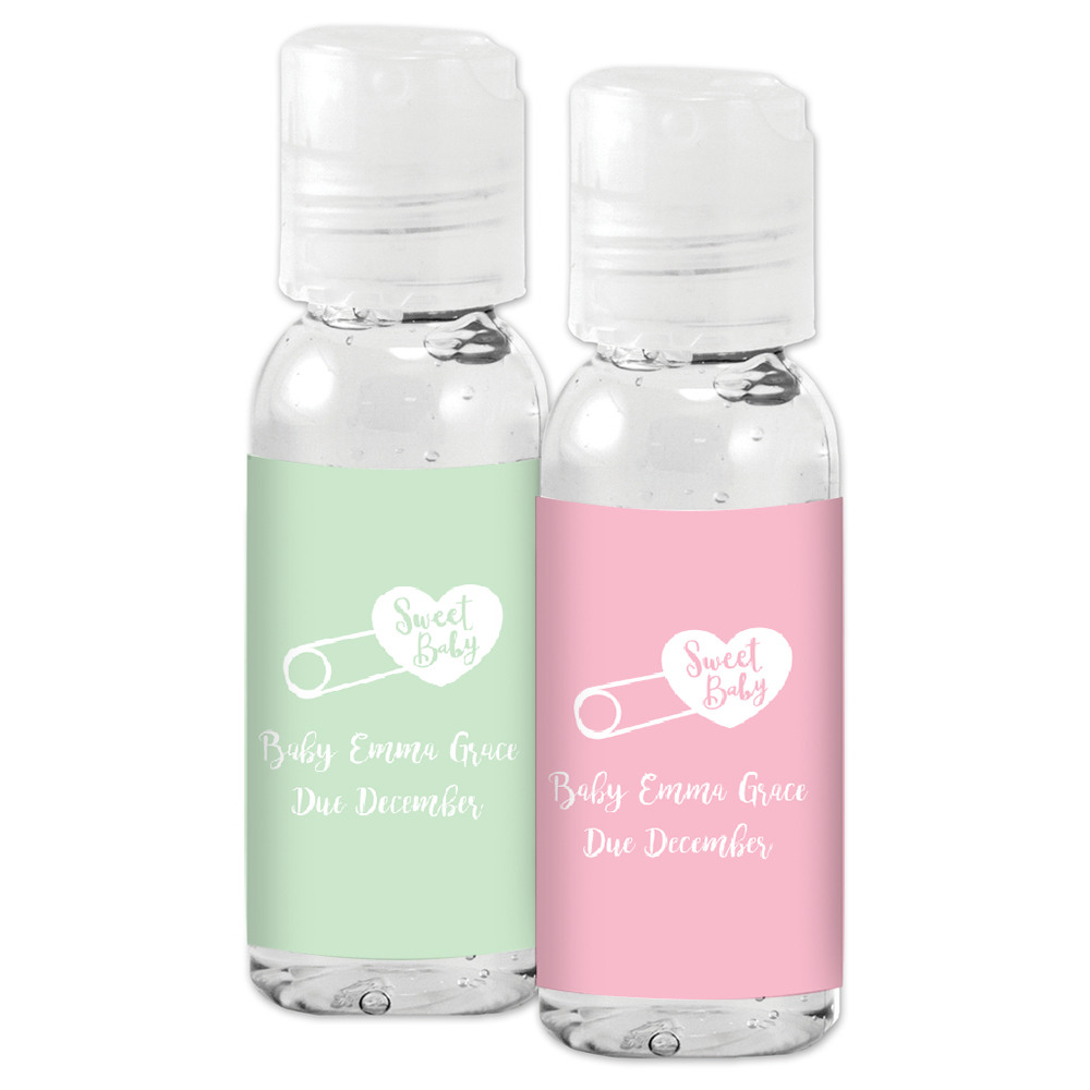Personalized Baby Shower Hand Sanitizer Favors 11720