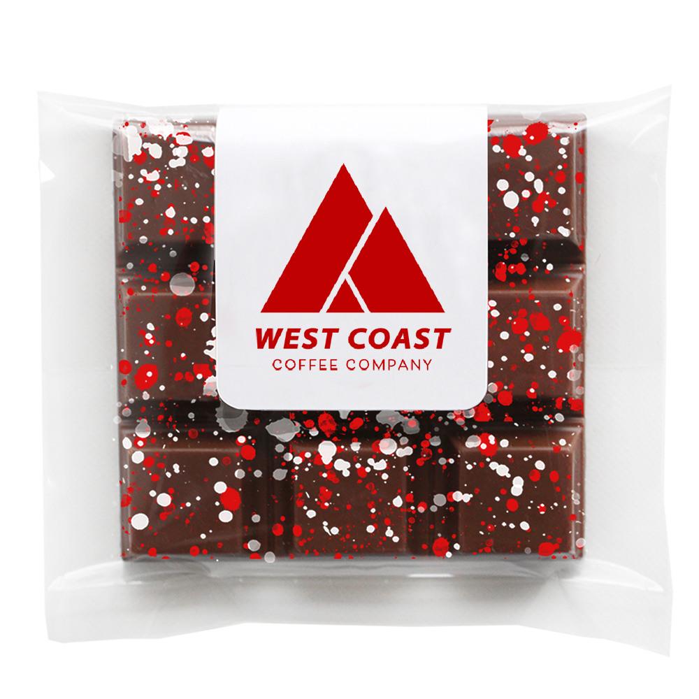 Corporate Logo Splatter Chocolate Bar 11729