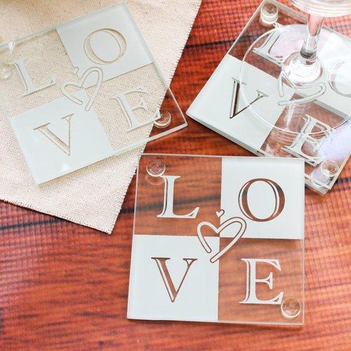 Glass Love Coasters 1203