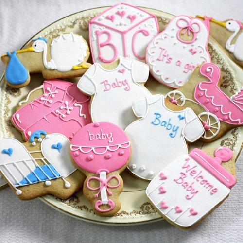 Custom Designer Baby Shower Cookies 1229