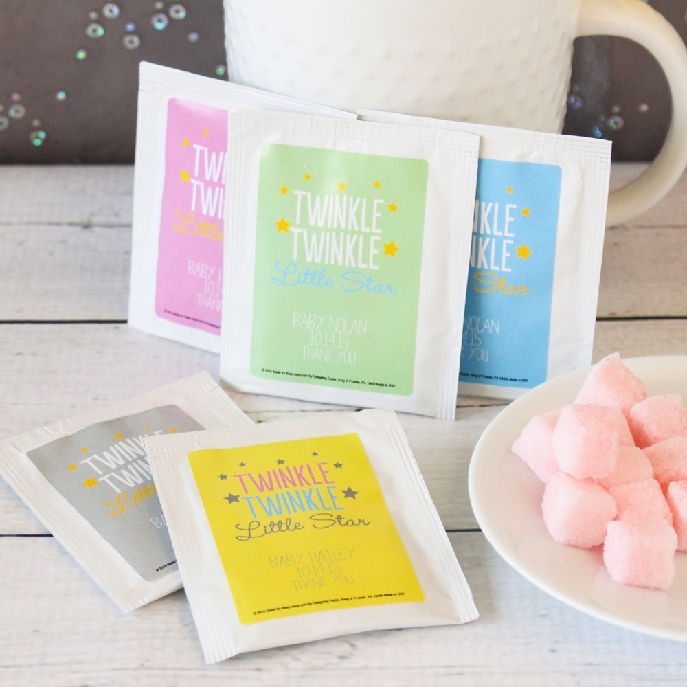 Personalized Twinkle Twinkle Tea Bags