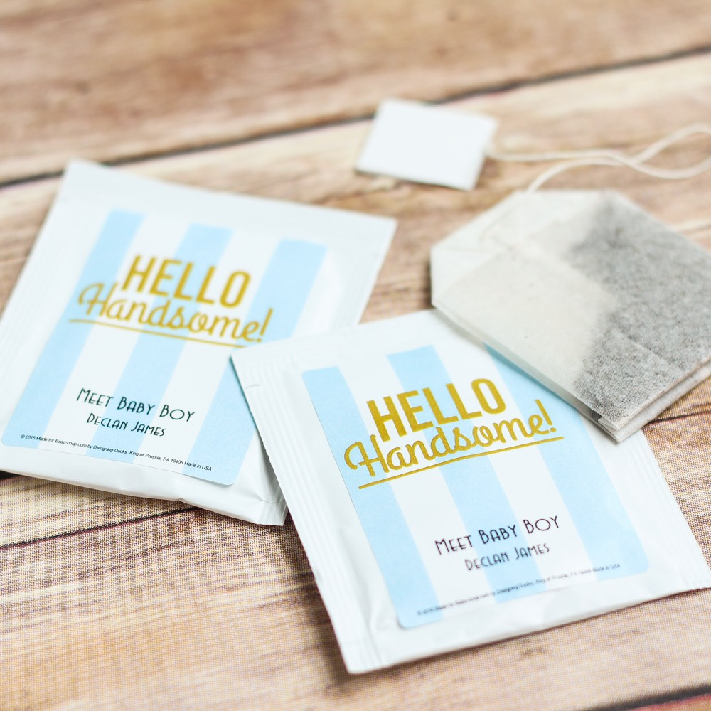 Personalized Hello Handsome Tea Bags