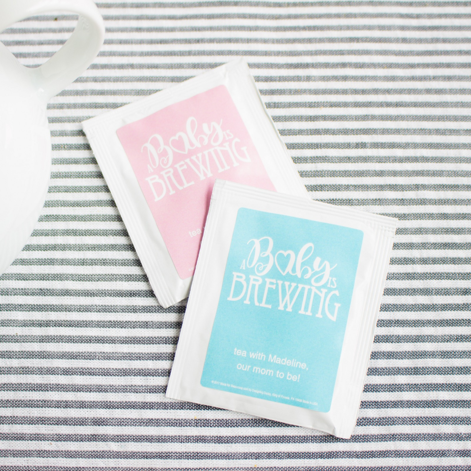 Personalized Baby is Brewing Tea Bags