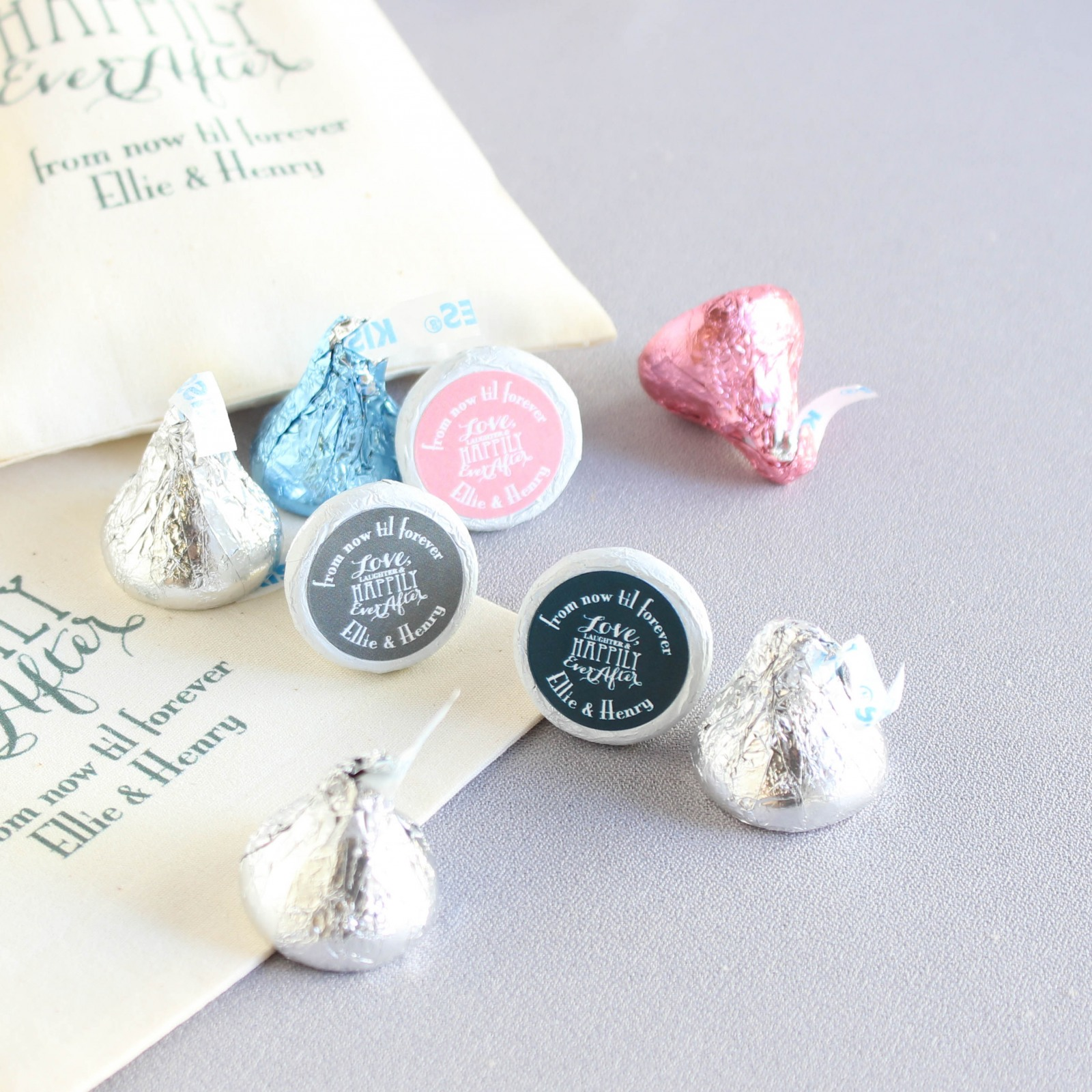 Personalized Love Laughter Wedding Hershey's Kisses