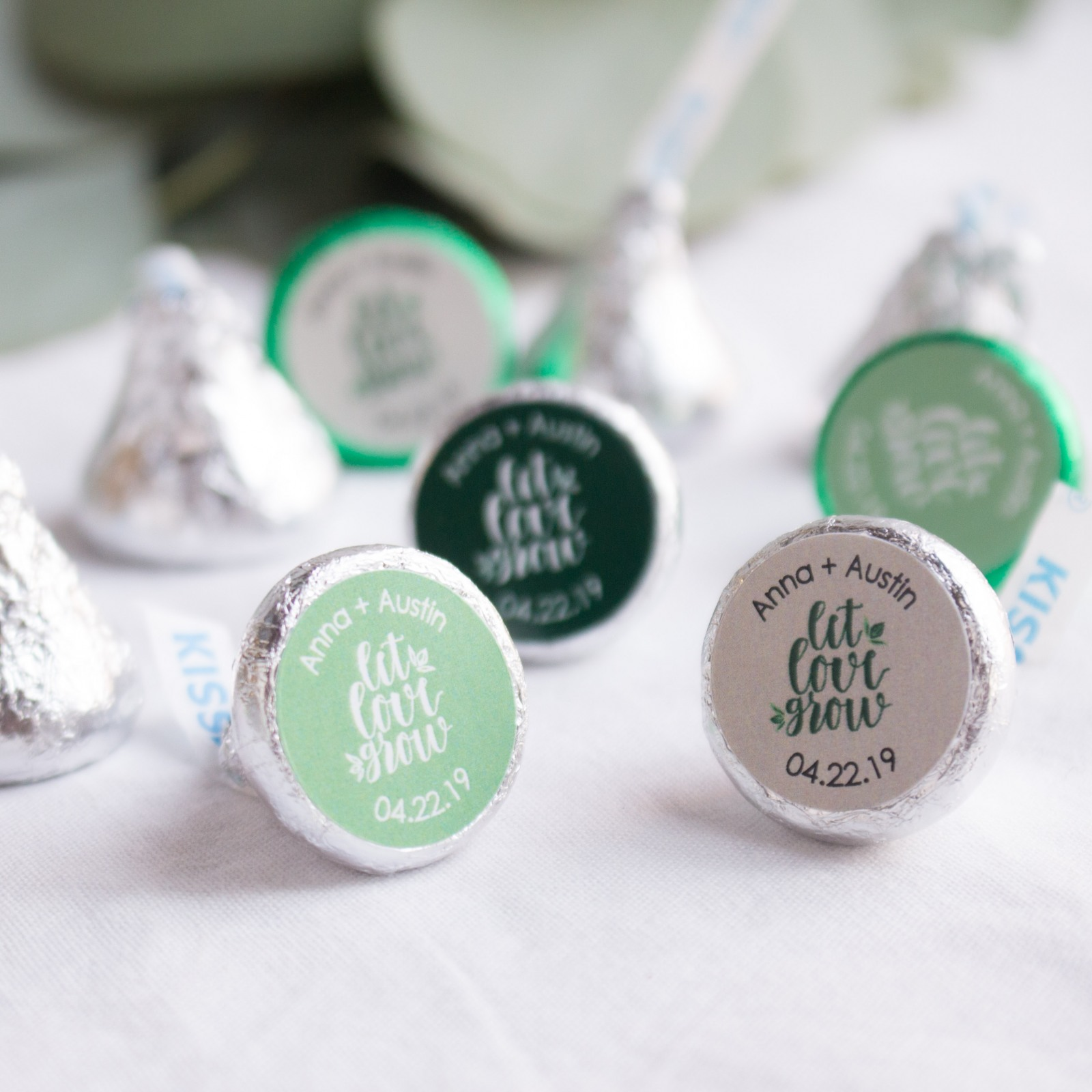 Personalized Let Love Grow Kisses