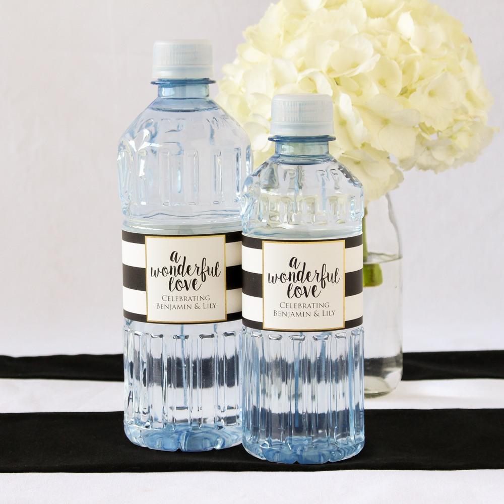 Personalized Wedding Bottled Water
