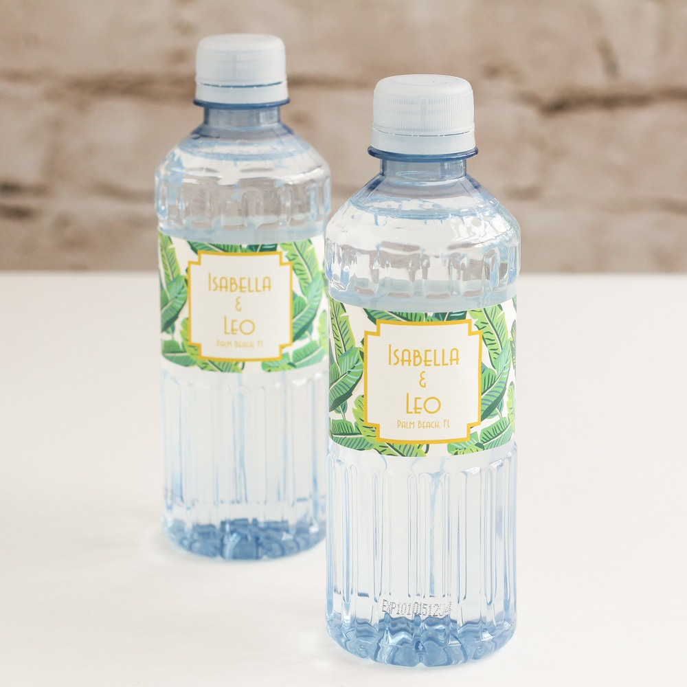 Personalized Tropical Bottled Water