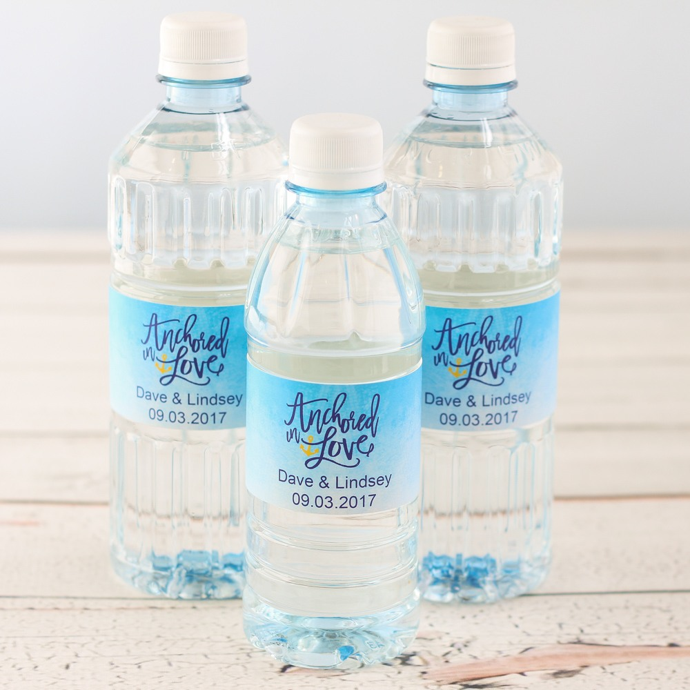 Custom Label Bottled Water - Wedding Designs