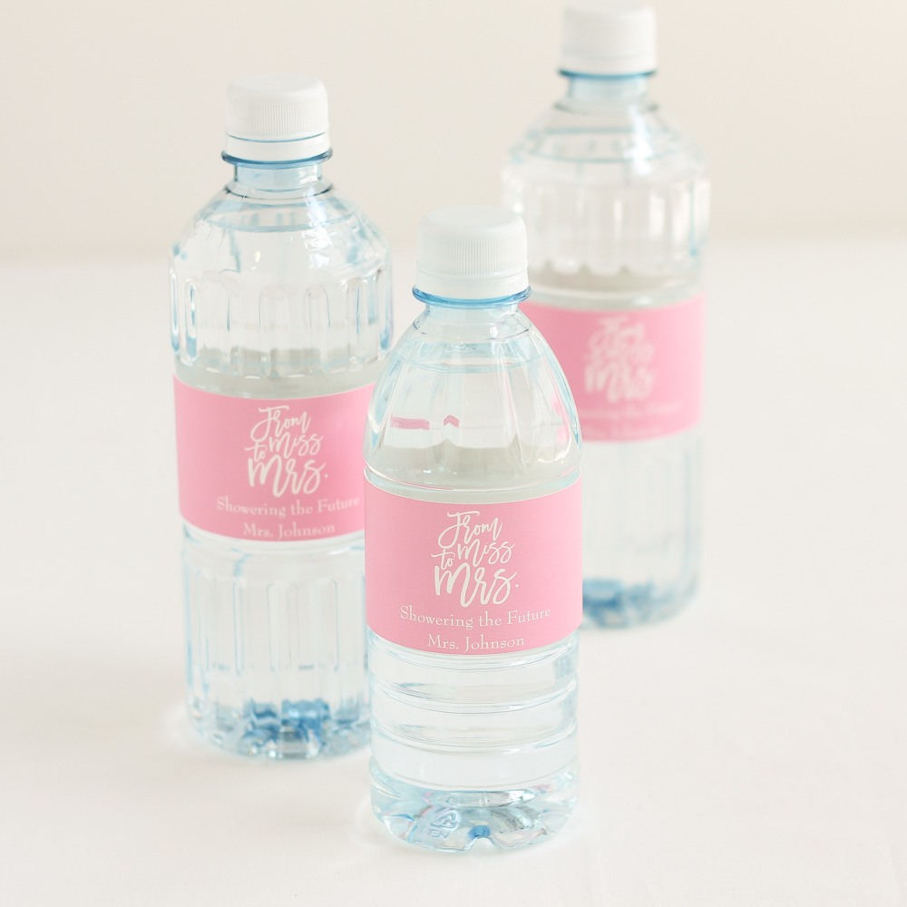 Personalized Miss to Mrs Bottled Water