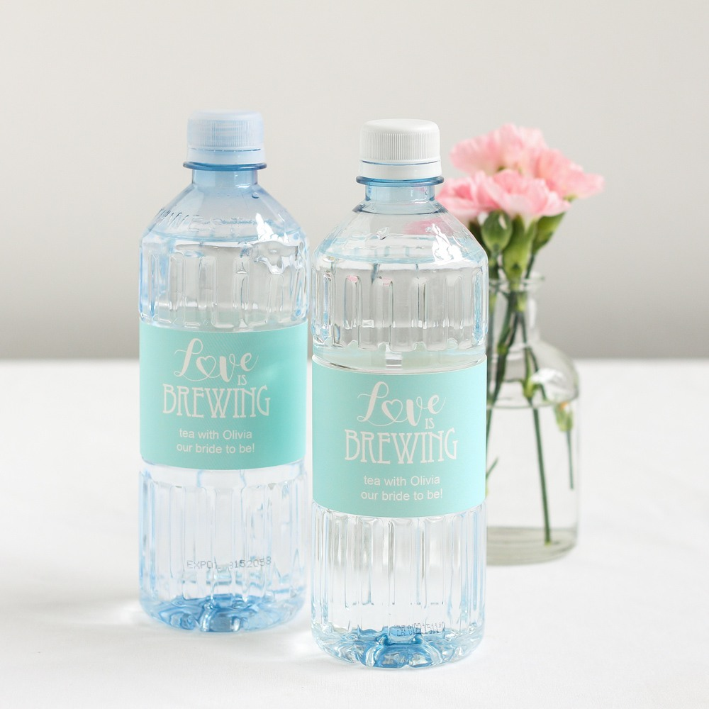 Personalized Love is Brewing Bottled Water