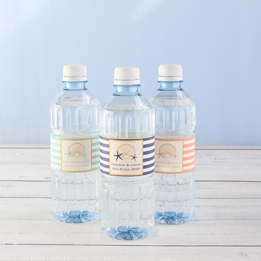 Custom Seashell Bottled Water