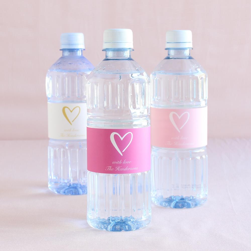 Personalized Heart Wedding Bottled Water