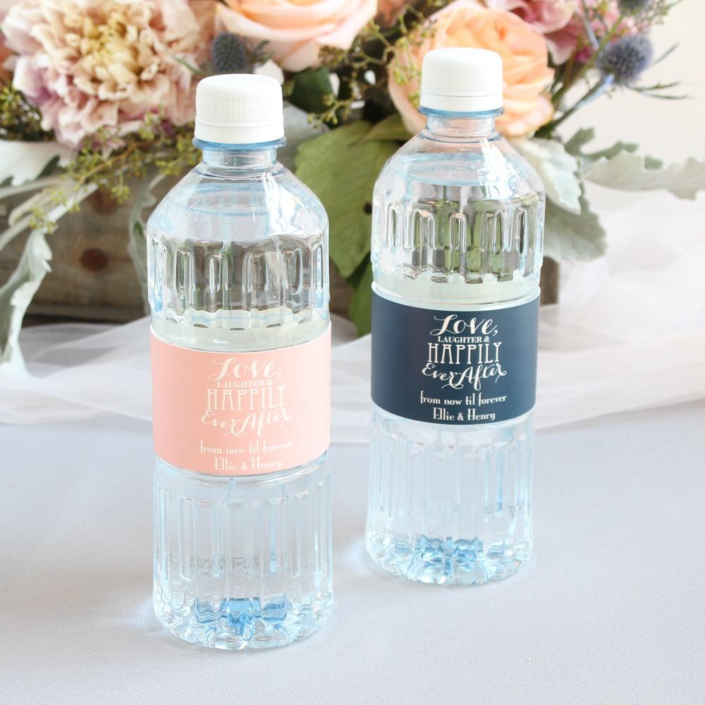 Custom Love Laughter Bottled Water