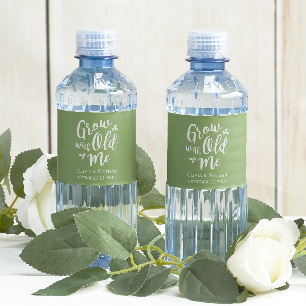 Custom Grow Old With Me Label Bottle Water - Wedding Designs