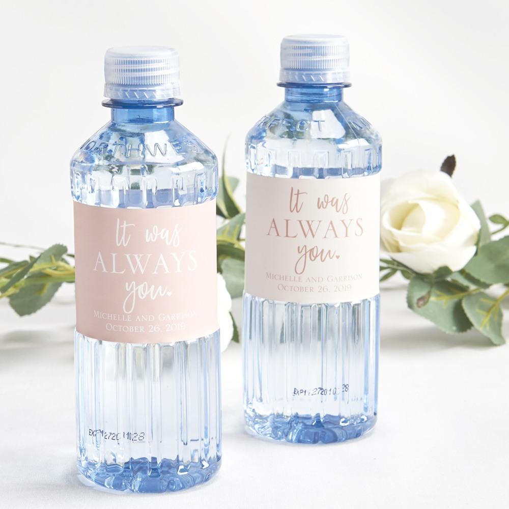 Custom Label Bottled Water - Wedding Designs 1458