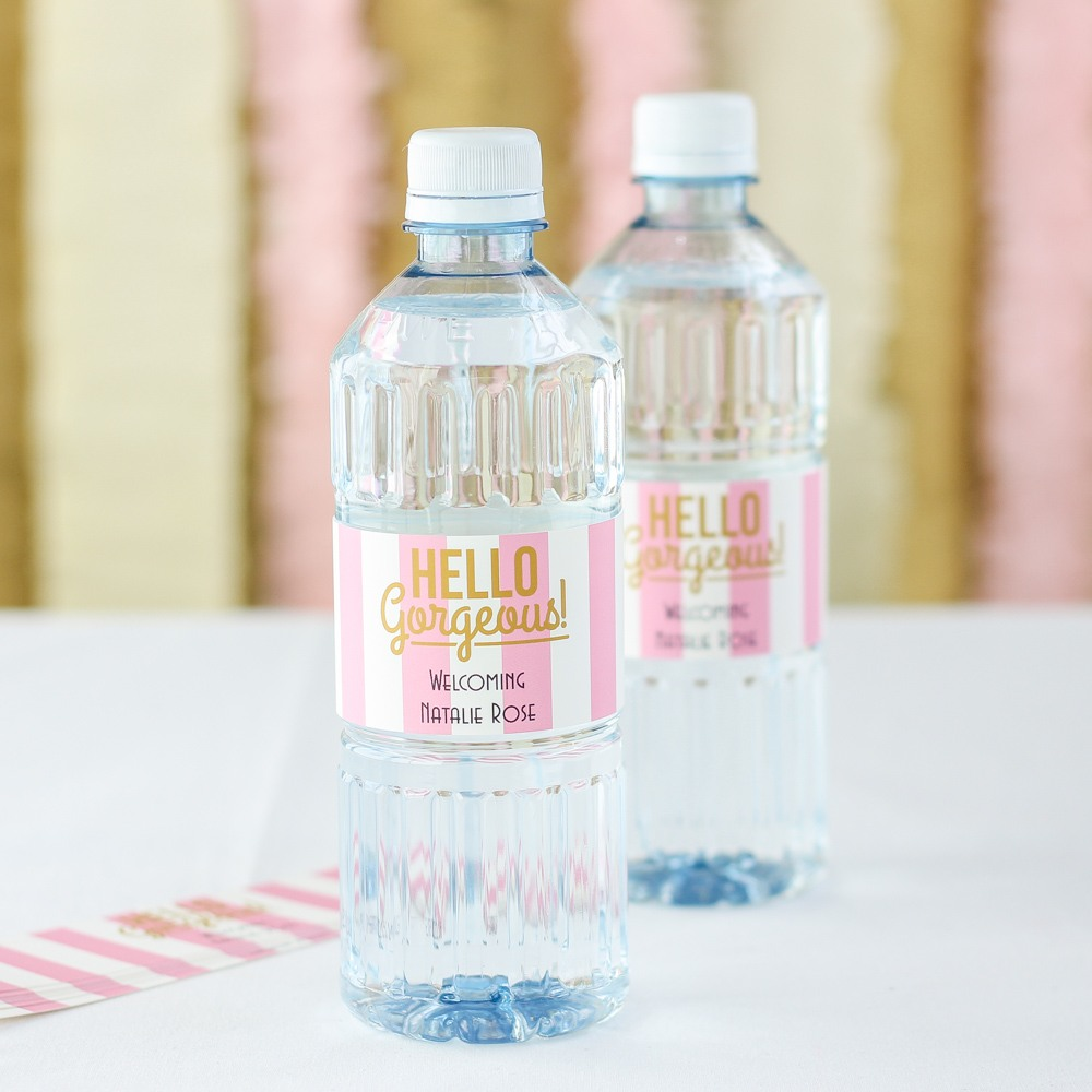 Personalized Baby Shower Bottled Water 1466