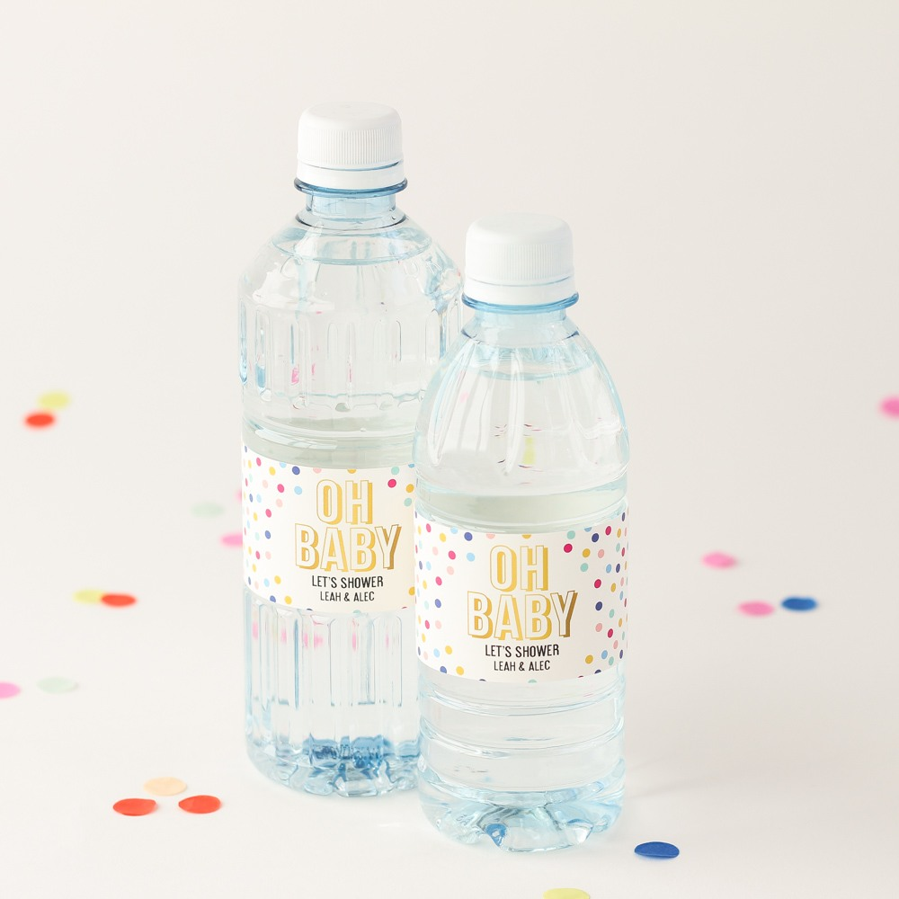 Personalized Oh Baby Bottled Water
