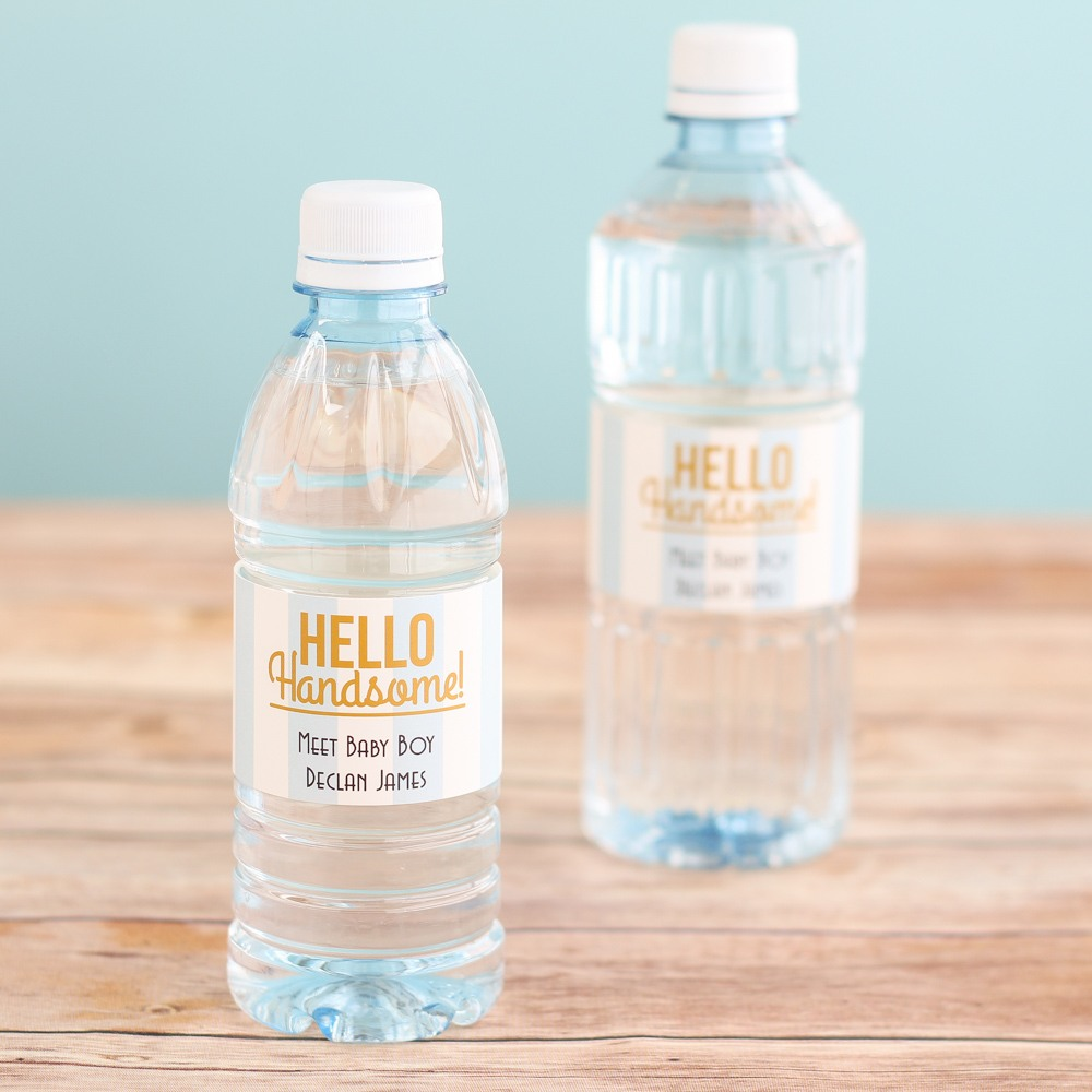 Personalized Hello Handsome Bottled Water