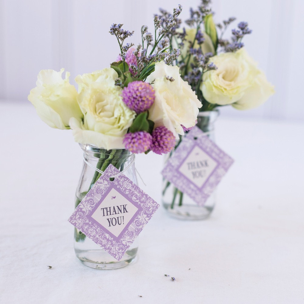 Personalized Diamond Wedding Favor Gift Tags 1483