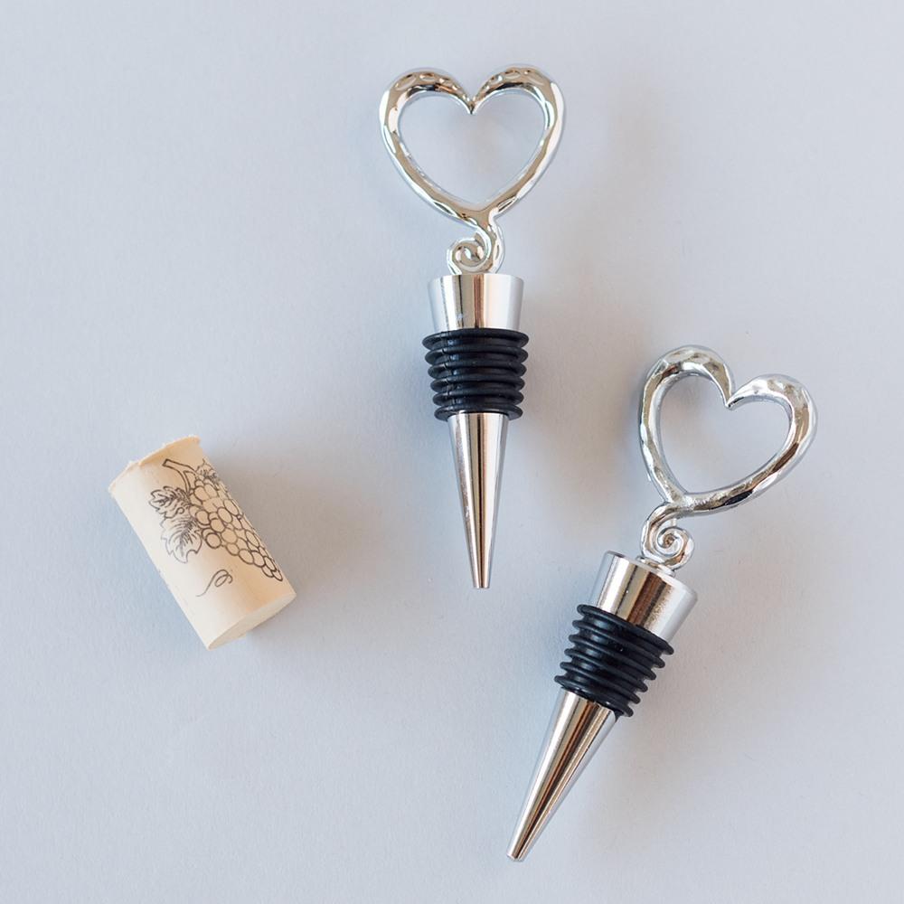 Open Heart Wine Bottle Stoppers 1497