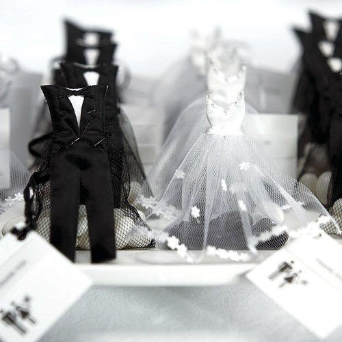 Bride And Groom Favor Bags 1500