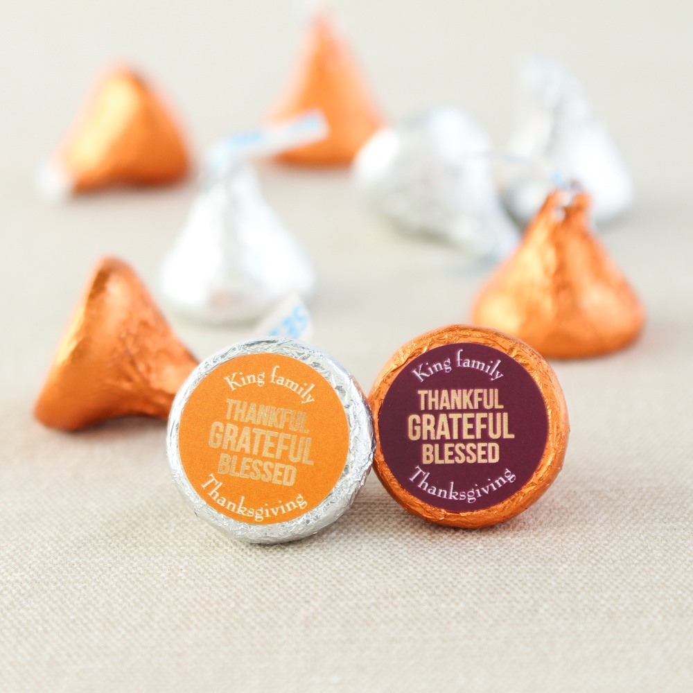 Personalized Thanksgiving Kisses