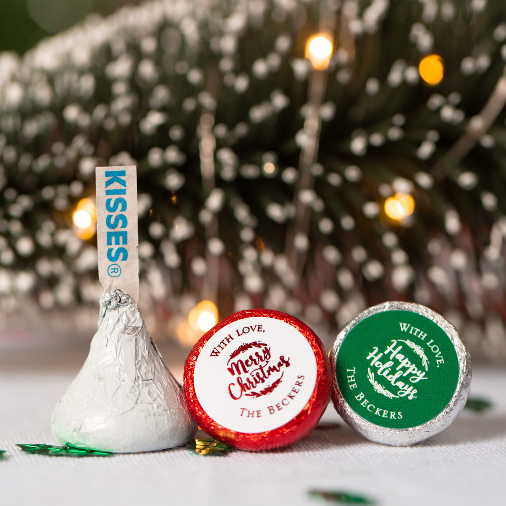Personalized Holiday Hershey'S Kisses 1553