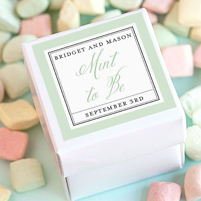 Personalized Square Wedding Labels 1557