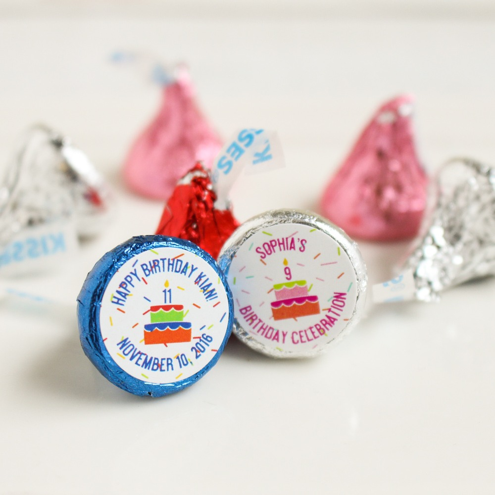 Personalized Birthday Cake Hershey's Kisses