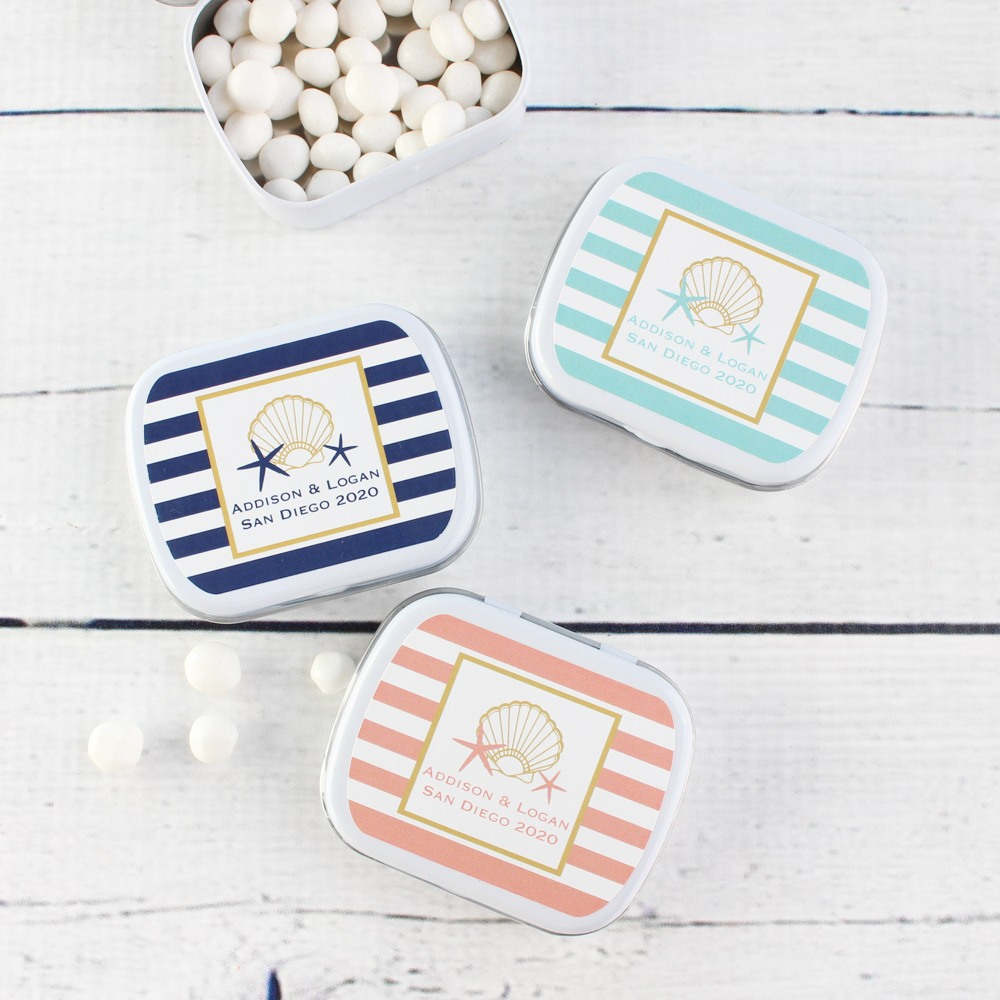Exclusive Seashell Personalized Mint Tins