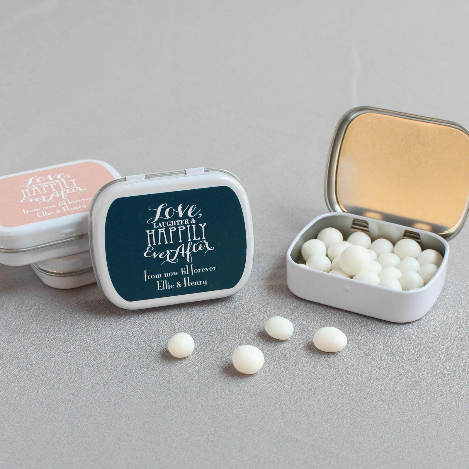 Exclusive Love Laughter Personalized Mint Tin