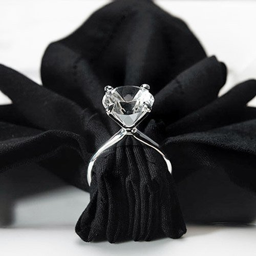 Silver Plated Diamond Ring Napkin Holders 1750