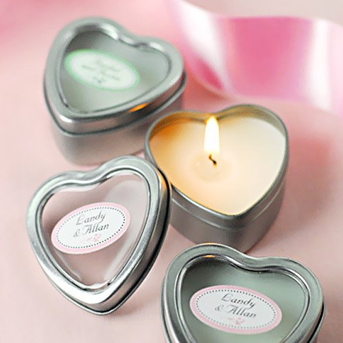 Mini Vanilla Heart Candle Tins