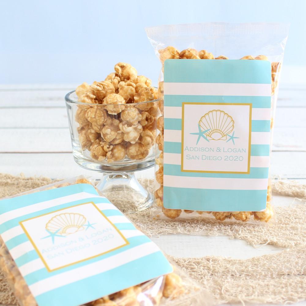Personalized Seashell Caramel Corn