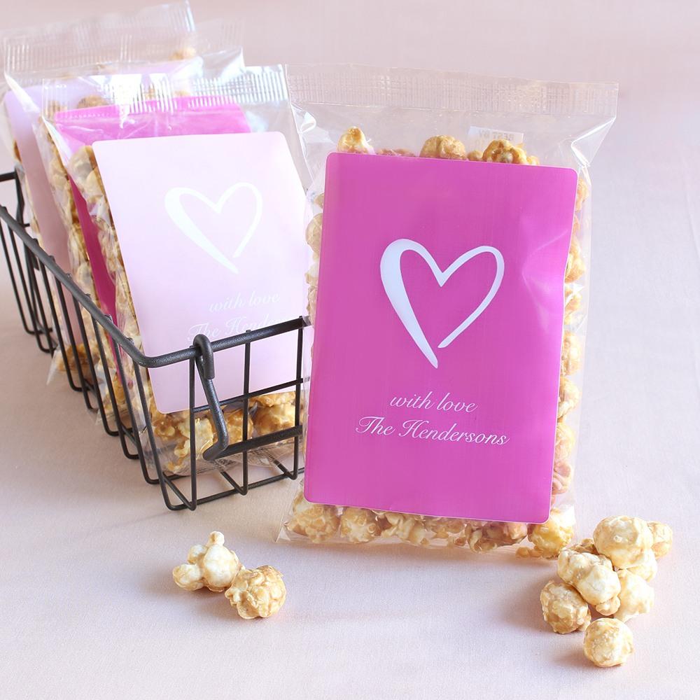 Personalized Heart Caramel Corn