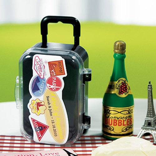 Personalized Mini Rolling Suitcase Favors 1881