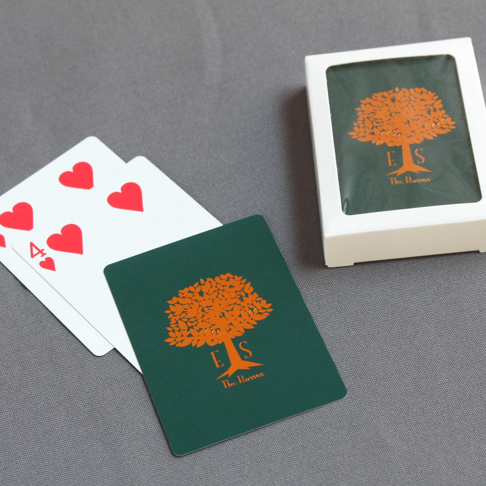 Personalized Wedding Tree Playing Cards