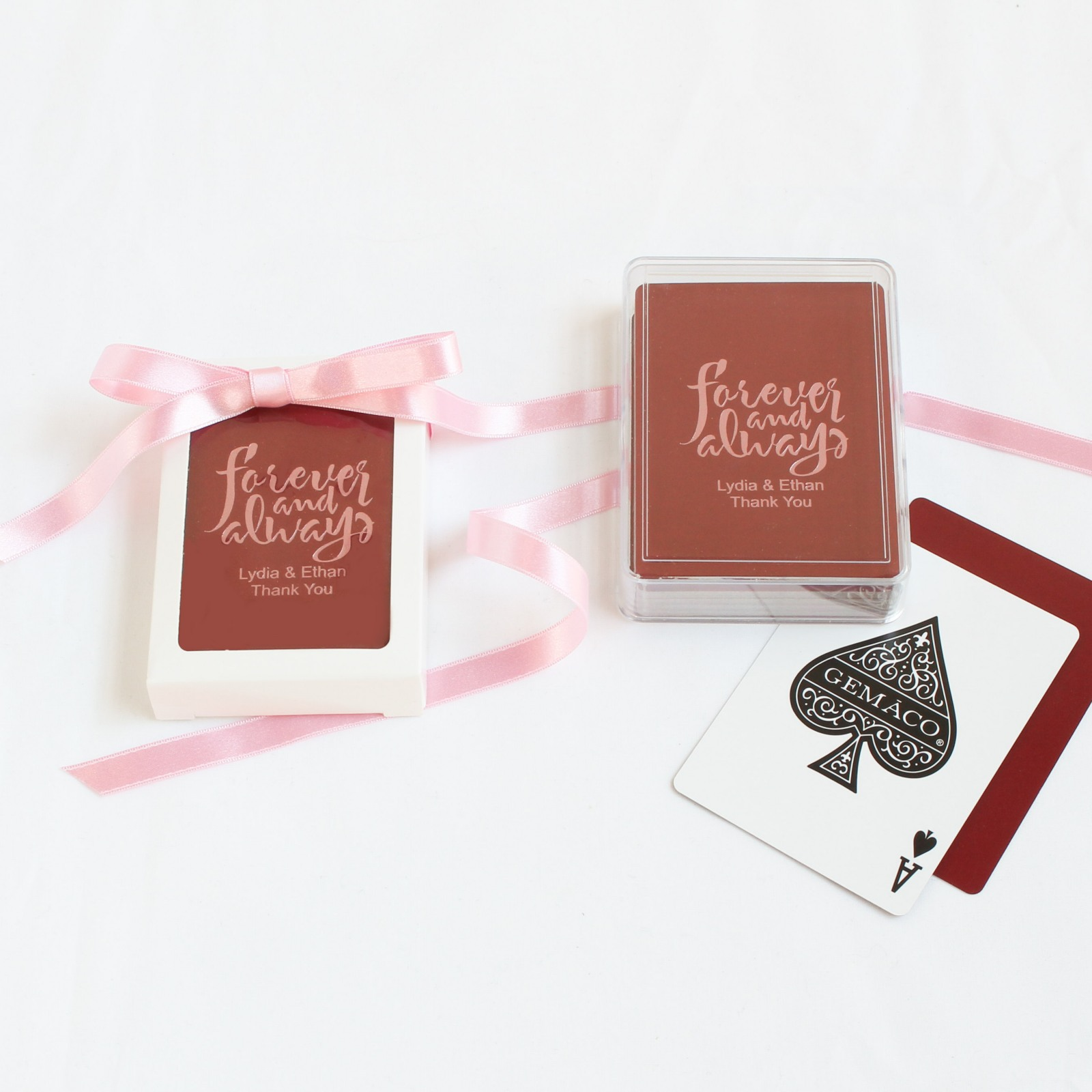 Personalized Forever Always Playing Cards