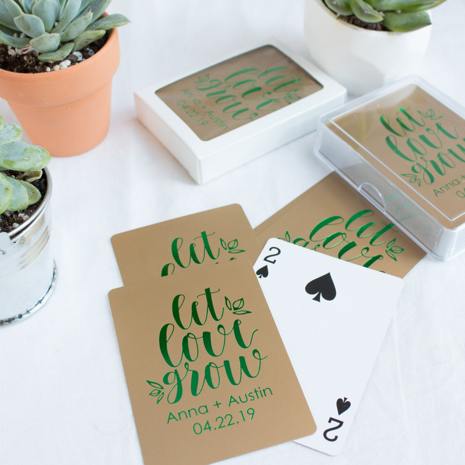 Let Love Grow Customized Playing Cards