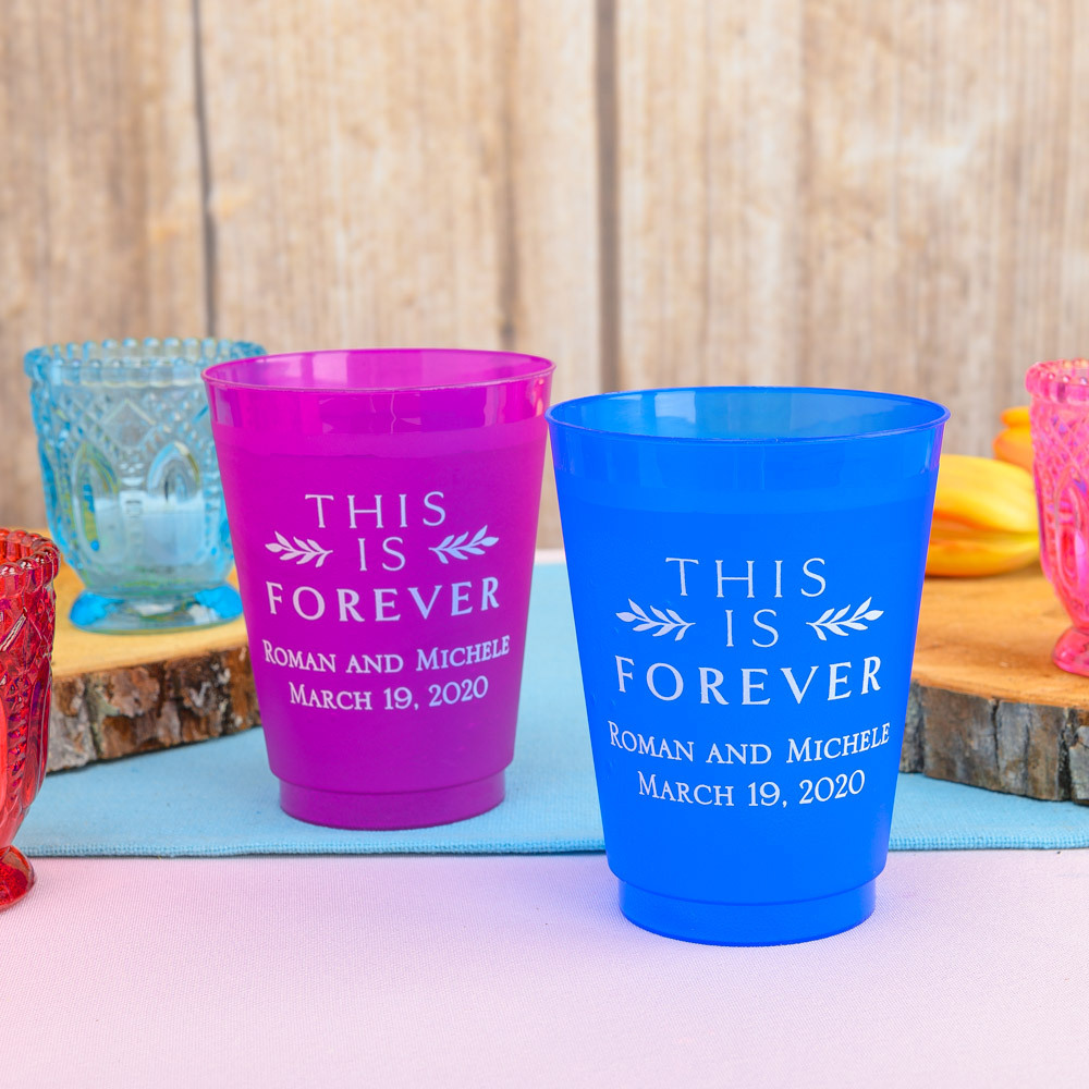 Personalized This is Forever Frosted Plastic Cups