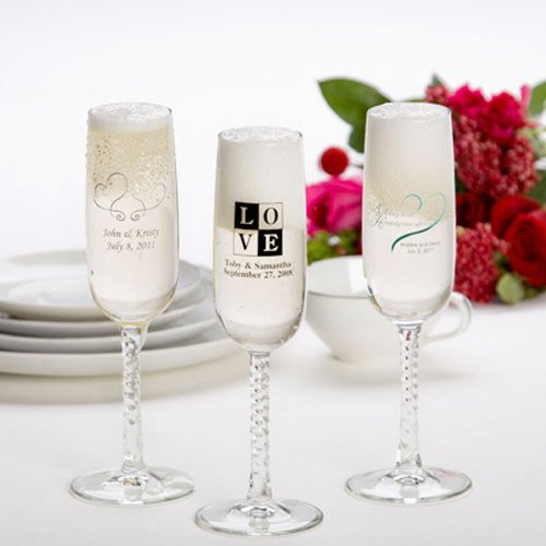 Personalized Champagne Flute Wedding Favor 2035