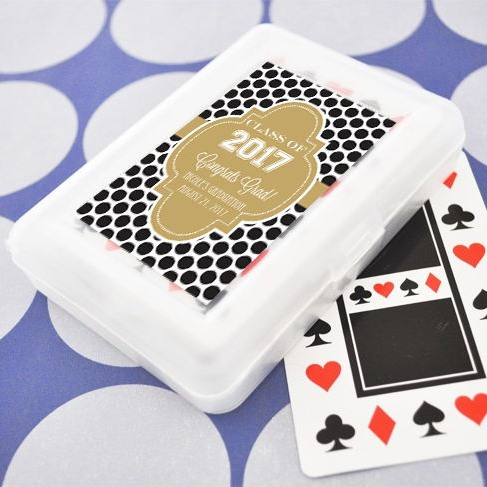 Graduation Playing Cards With  Personalized Labels 2042