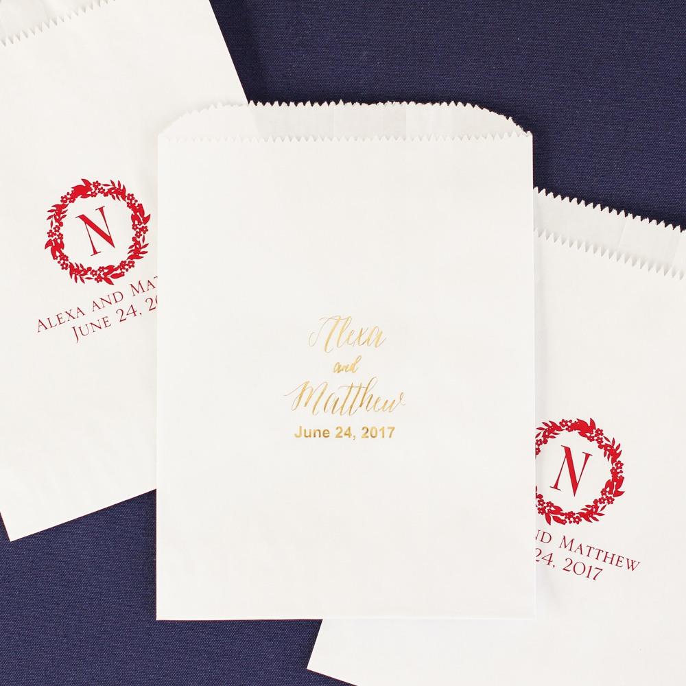 Personalized Modern Berry Sweet 'n Treats Bags