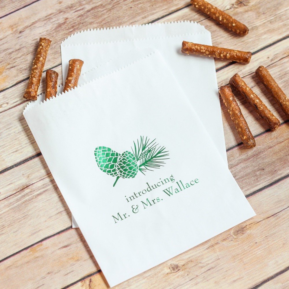 Personalized Pinecone Sweets n' Treats Bag