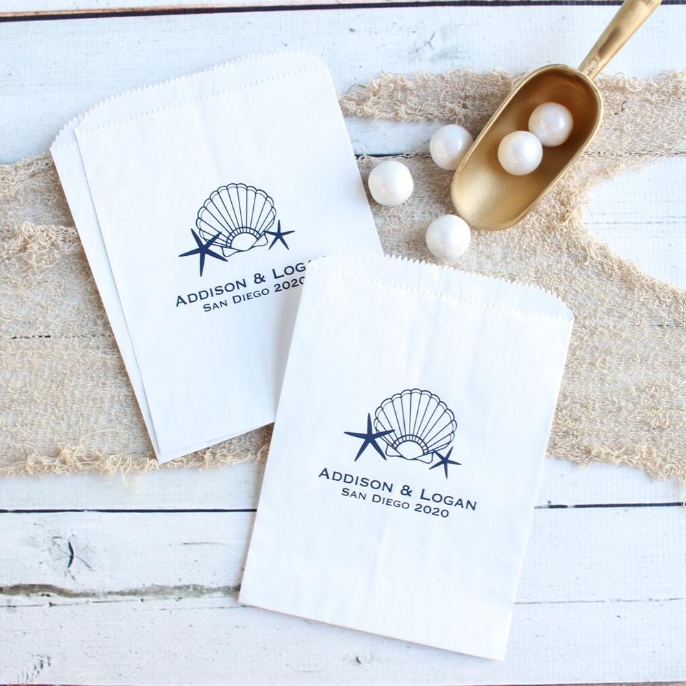 Personalized Seashell Sweets 'n Treats Bag
